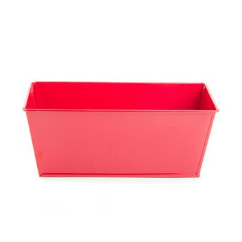 C ZINC RECTANGLE D20 ROUGE MINI JARDINIERE